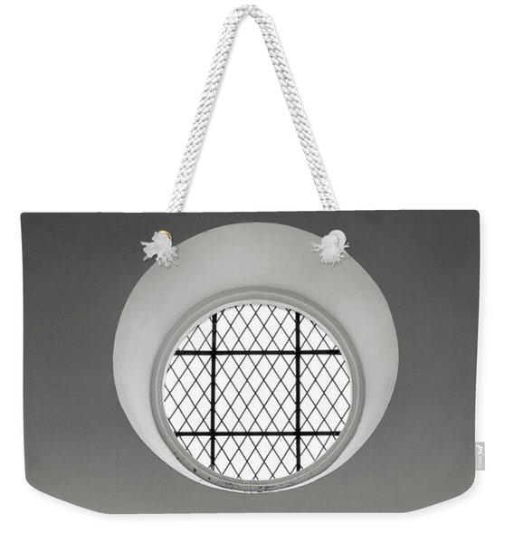 Church Window In Black And White Weekender Tote Bag