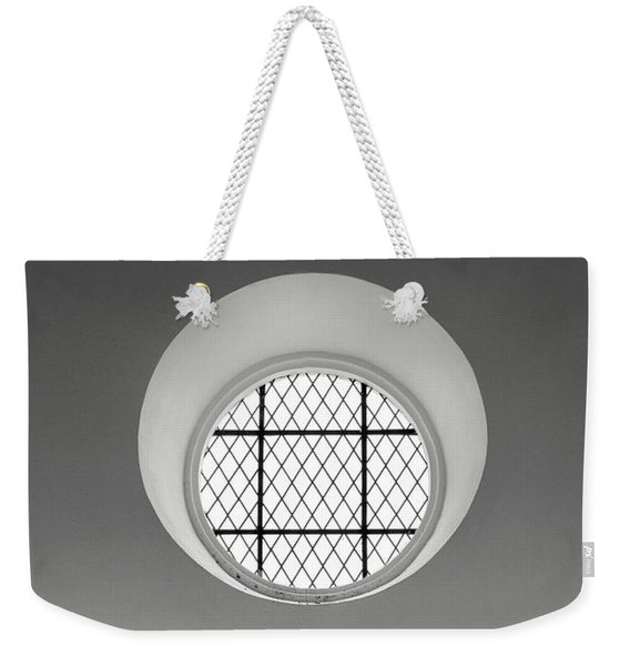 Church Window In Black And White Weekender Tote Bag