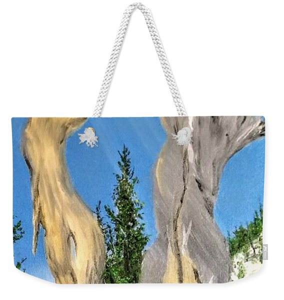 Weekender Tote Bag featuring the painting Church Window by Kevin Daly
