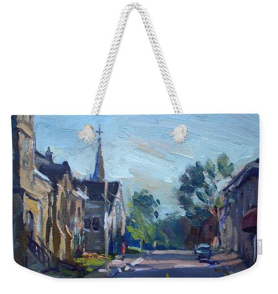 Churche In Downtown Georgetown On Weekender Tote Bag