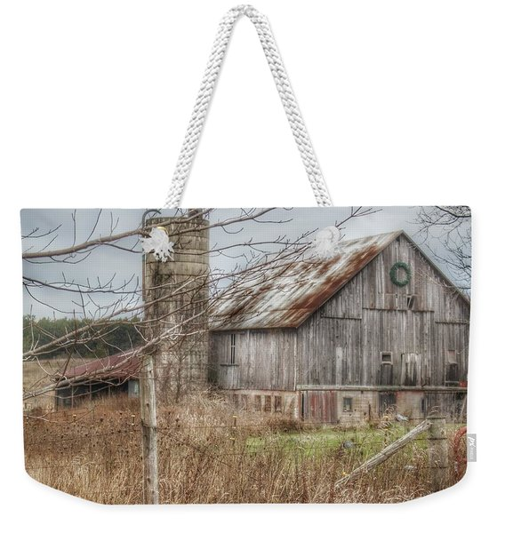 0008 - Churchill Christmas Barn Weekender Tote Bag