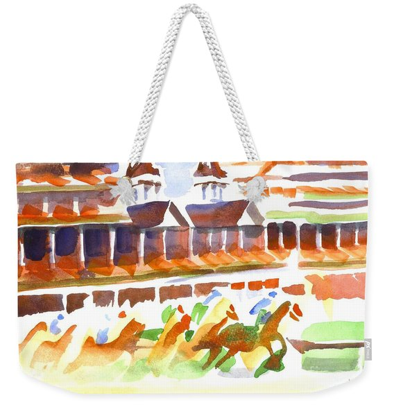 Churchill Downs Watercolor Weekender Tote Bag