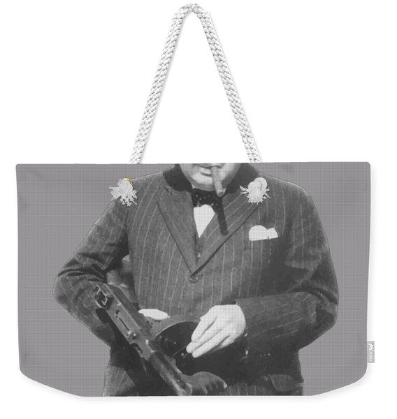 Churchill Posing With A Tommy Gun Weekender Tote Bag