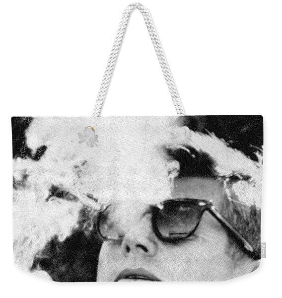 Cigar Smoker Cigar Lover Jfk Gifts Black And White Photo Weekender Tote Bag
