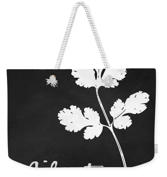 Cilantro Black And White- Art By Linda Woods Weekender Tote Bag