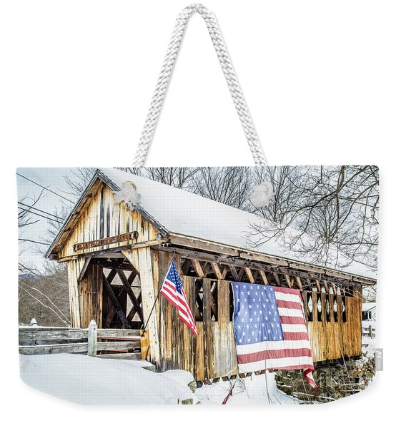 Cilleyville Bog Bridge Covered Bridge New Hampshire Weekender Tote Bag
