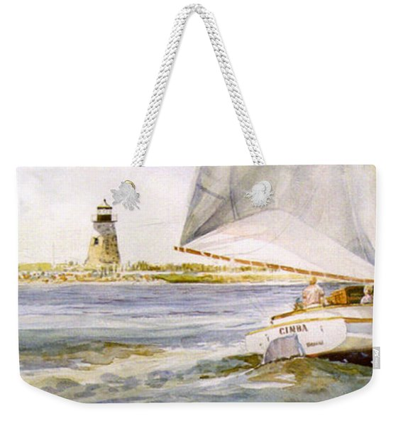 Cimba At Bird Island Light Weekender Tote Bag