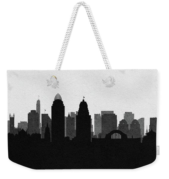 Cincinnati Cityscape Art Weekender Tote Bag
