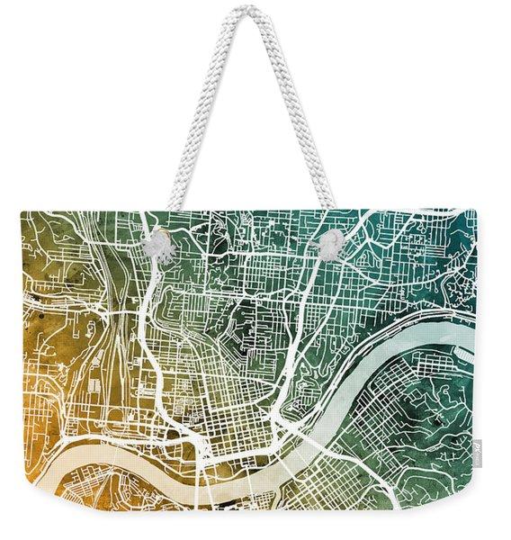 Cincinnati Ohio City Map Weekender Tote Bag