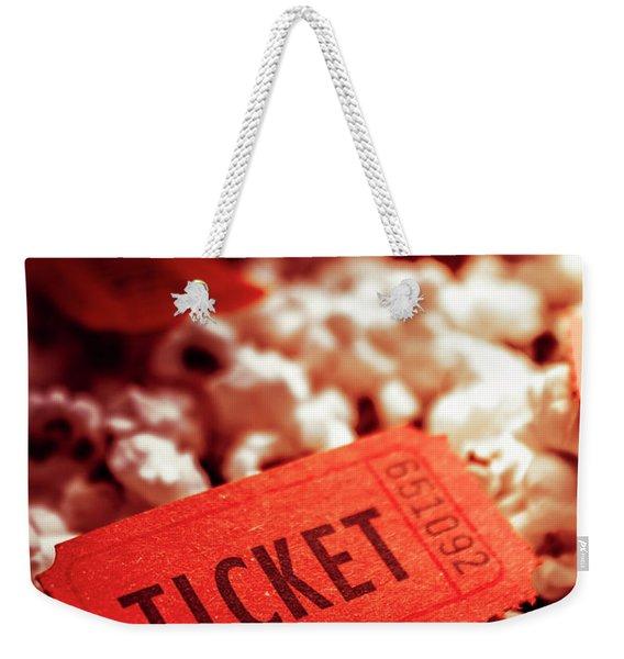 Cinema Ticket On Snackbar Food Weekender Tote Bag