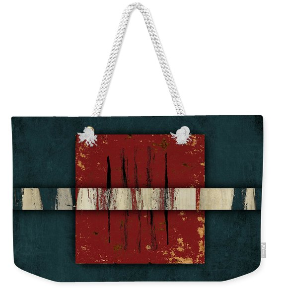Cinnabar And Indigo One Of Two Weekender Tote Bag