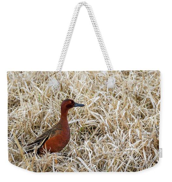 Cinnamon Teal Weekender Tote Bag