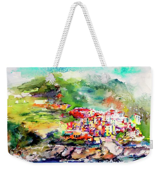 Cinque Terre Italy Corniglia Travel Memories Weekender Tote Bag