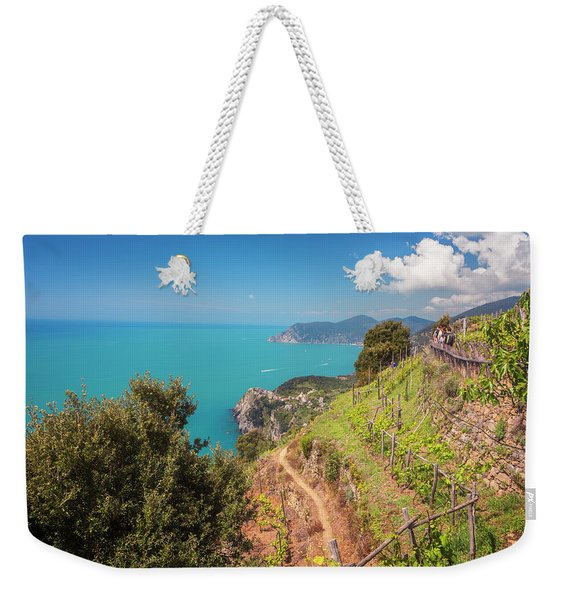 Cinque Terre Italy Vineyard Walk Weekender Tote Bag