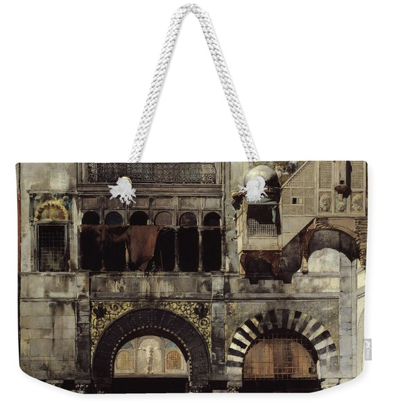 Circassian Cavalry Awaiting Their Commanding Officer At The Door Of A Byzantine Monument Weekender Tote Bag