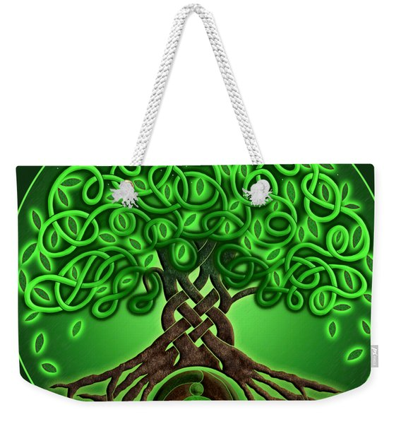 Circle Celtic Tree Of Life Weekender Tote Bag