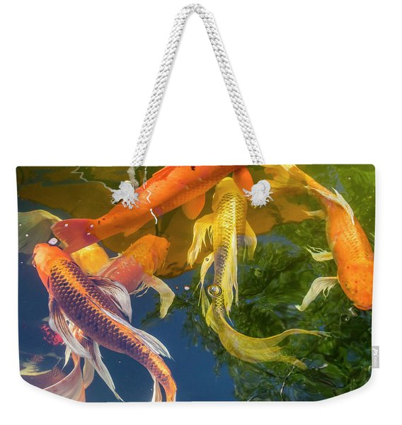 Circle Of Koi Weekender Tote Bag