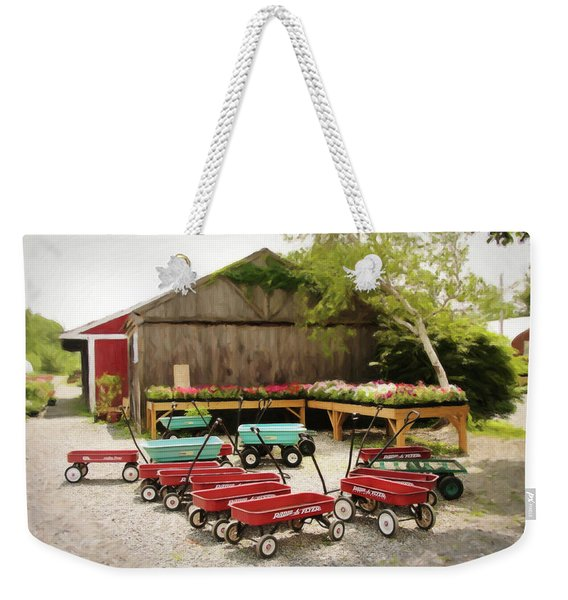 Circle The Wagons Weekender Tote Bag