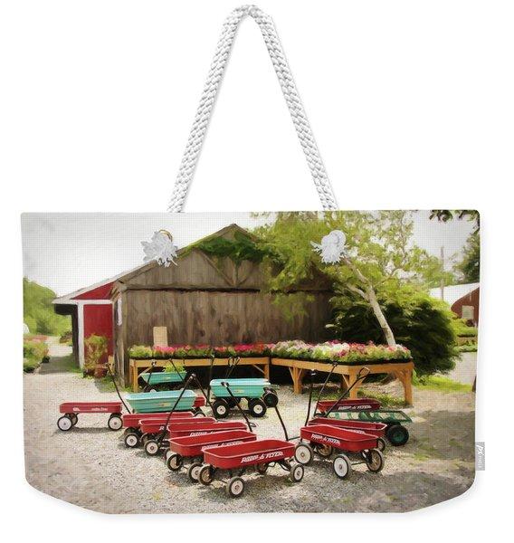 Circle The Wagons Weekender Tote Bag