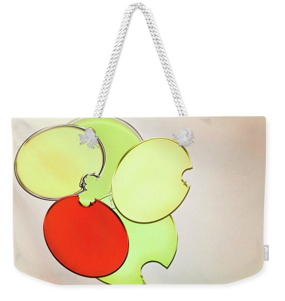 Circles Of Red, Yellow And Green Weekender Tote Bag