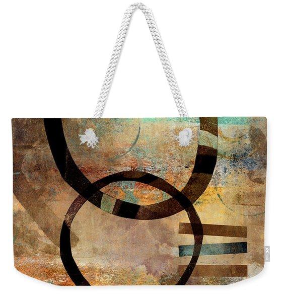 Circular Lines Weekender Tote Bag