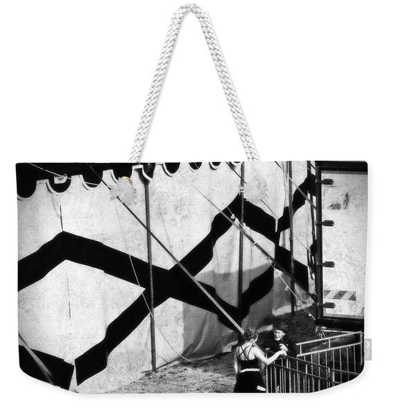 Circus Conversation Weekender Tote Bag