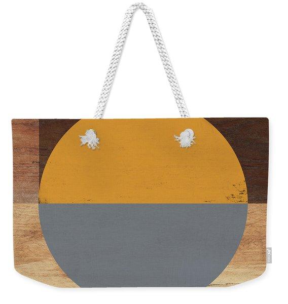 Cirkel Yellow And Grey- Art By Linda Woods Weekender Tote Bag