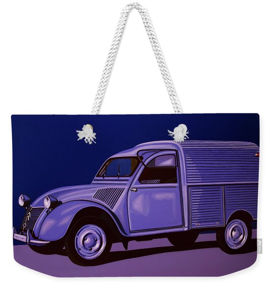 Citroen 2cv Azu 1957 Painting Weekender Tote Bag