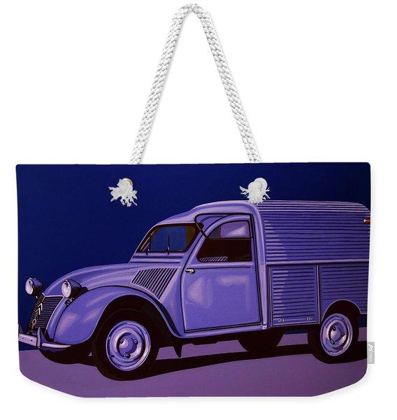 Citroen 2cv Azu 1957 Painting Weekender Tote Bag