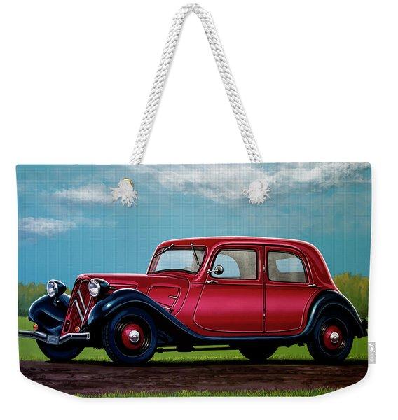 Citroen Traction Avant 1934 Painting Weekender Tote Bag