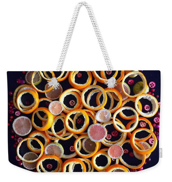 Citrus Delight Weekender Tote Bag