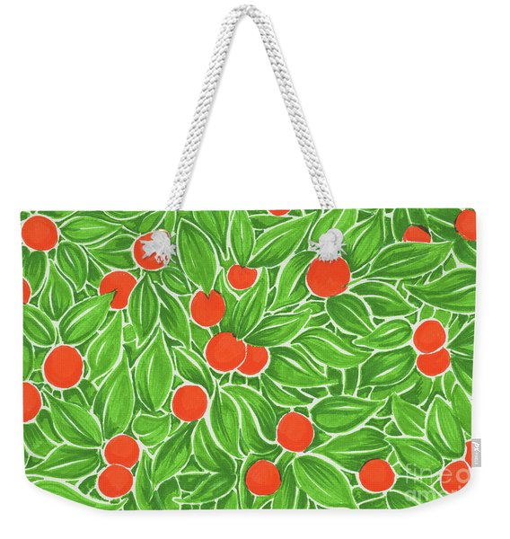 Citrus Pattern Weekender Tote Bag