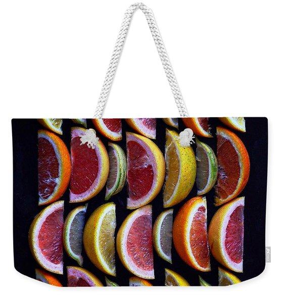 Wavy Citrus Lineage Weekender Tote Bag