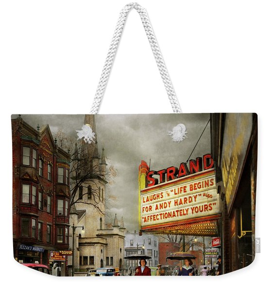 City - Amsterdam Ny - Life Begins 1941 Weekender Tote Bag