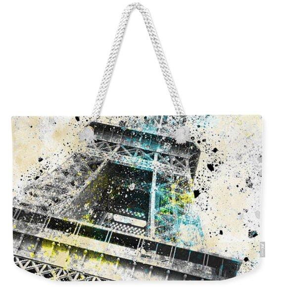 City-art Paris Eiffel Tower Iv Weekender Tote Bag