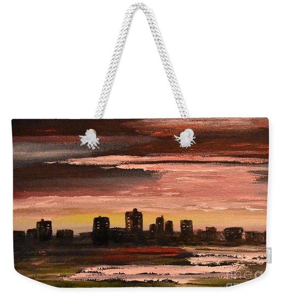 City At Night Weekender Tote Bag