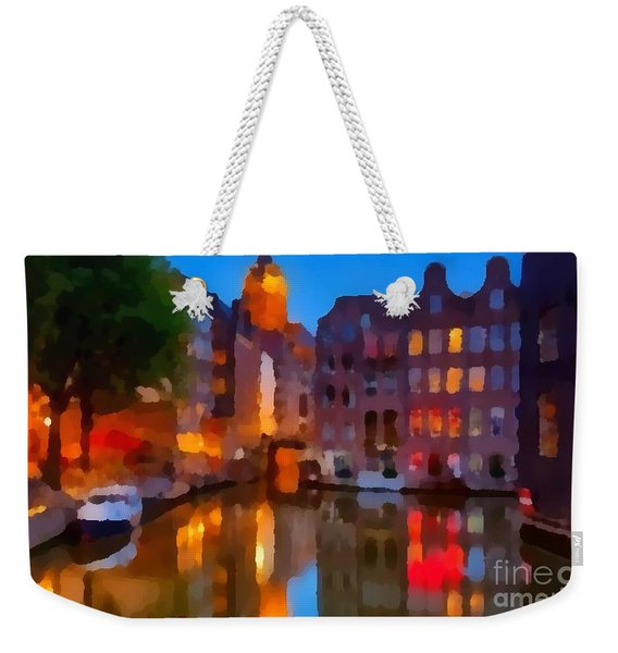 City Block 900 Soft And Dreamy In Thick Paint Weekender Tote Bag