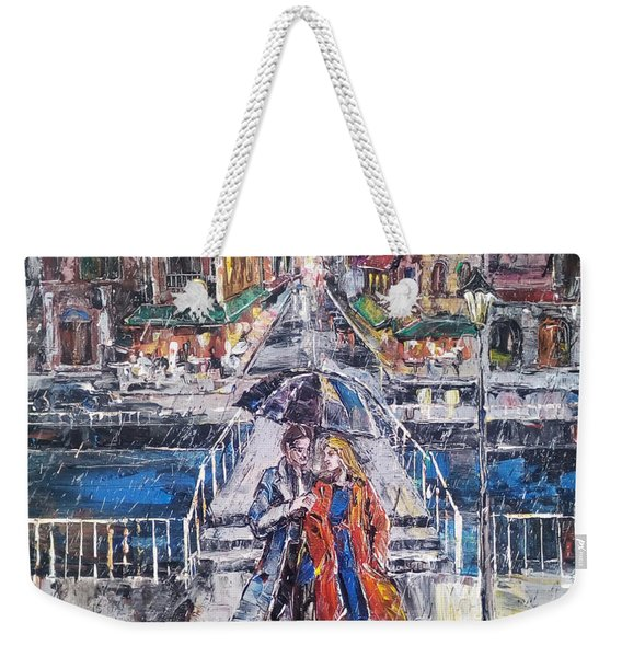 City For Two Weekender Tote Bag