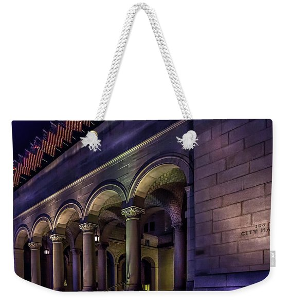 City Hall At Night Weekender Tote Bag