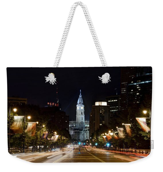 City Hall From The Parkway Weekender Tote Bag