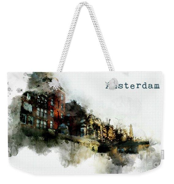 City Life In Watercolor Style  Weekender Tote Bag