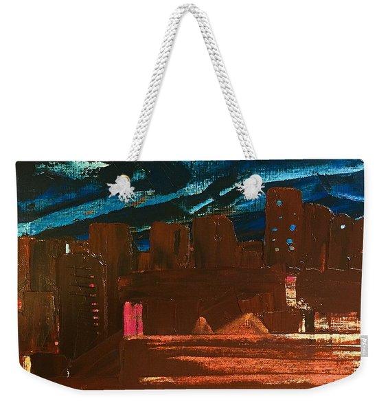 City Lights Weekender Tote Bag