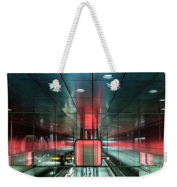 City Metro Station Hamburg Weekender Tote Bag