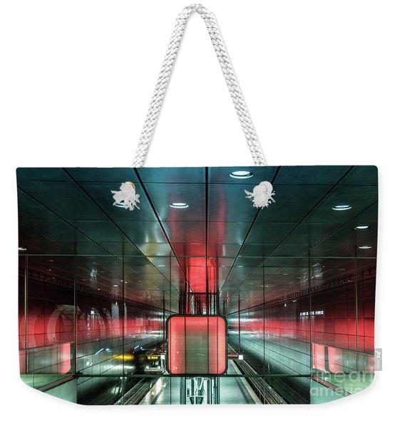 City Metro Station Hamburg Weekender Tote Bag