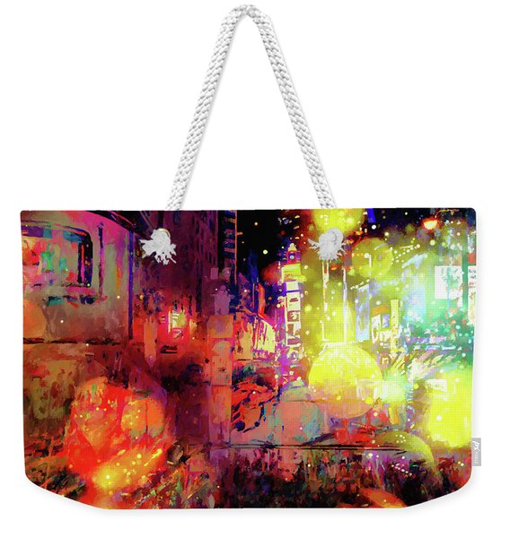 City Nights Weekender Tote Bag