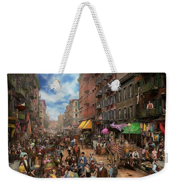 City - Ny - Flavors Of Italy 1900 Weekender Tote Bag