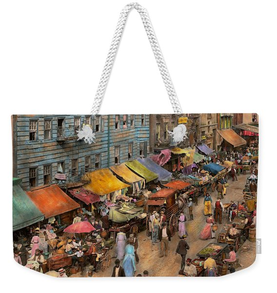 City - Ny - Jewish Market On The East Side 1890 Weekender Tote Bag