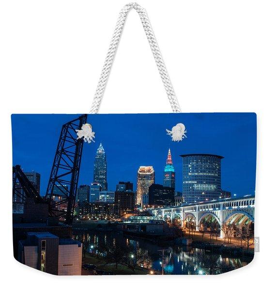 City Of Bridges Weekender Tote Bag