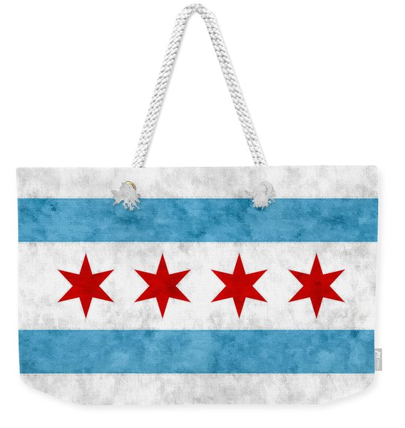 City Of Chicago Flag Weekender Tote Bag