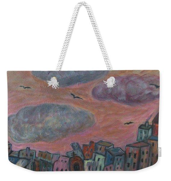 City Of Clouds Weekender Tote Bag